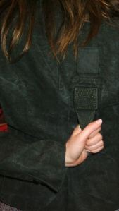 Detalle posterior chaqueta