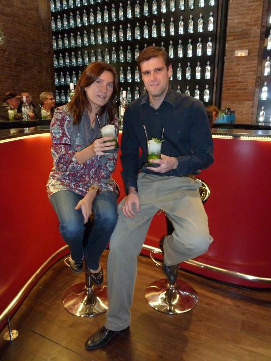 Con Juan Bergaz, Embajador de la marca Bacardi en el Lounge Bar