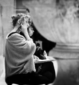 Patio del Louvre, esculturas clásicas
