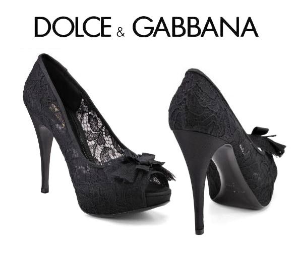 Preciosos zapatos de encaje que D&G nos propone para este otoño-invierno