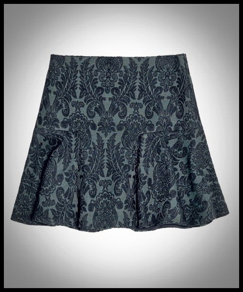 falda brocada Zara para fin de año