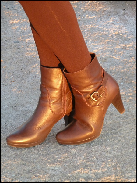 Leatheer brown boots