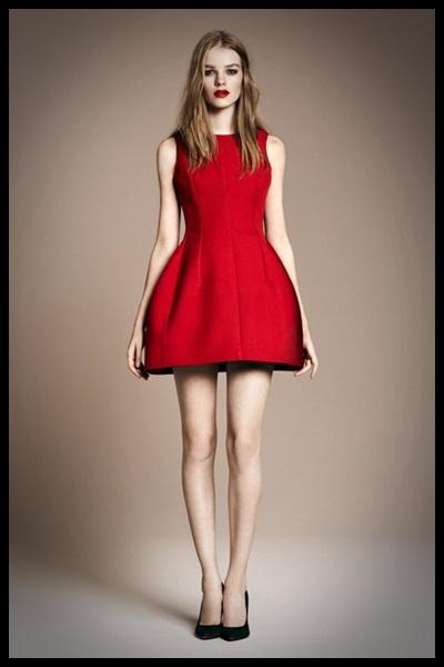 Look fin de año en rojo vestido de Zara