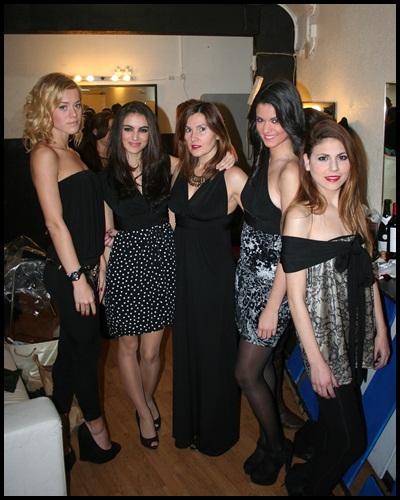 Milles - Backstage con las modelos