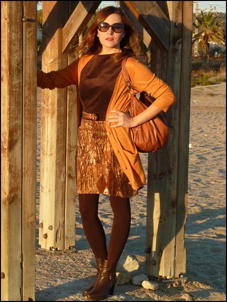 Vestido marrón Escod