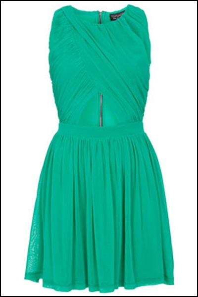 Emerald green for TOPSHOP