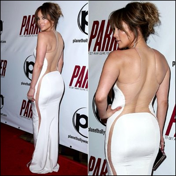 Jennifer López on Kaufman Franco dress