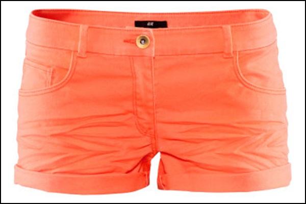 H&M microshorts en naranja 9,95