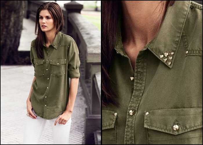 H&M Military style spring summer