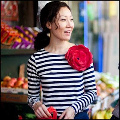 look marinero con flor de H&M