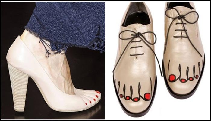 Phoebe Philo para Celine zapatos con la pedicura incorporada