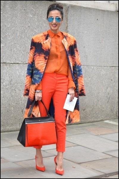 street style orange look