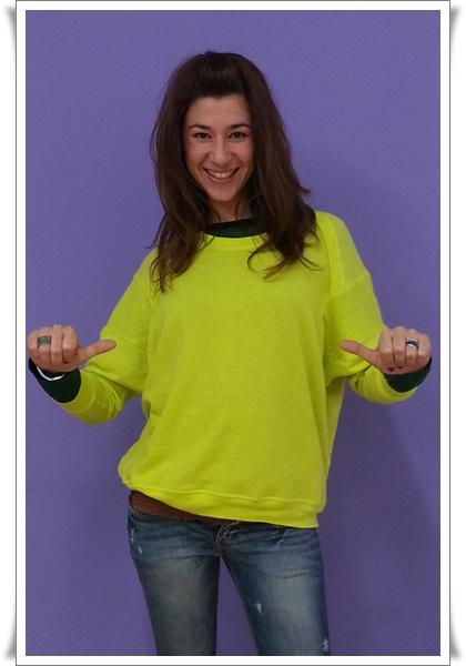 Camiseta flúor Zara