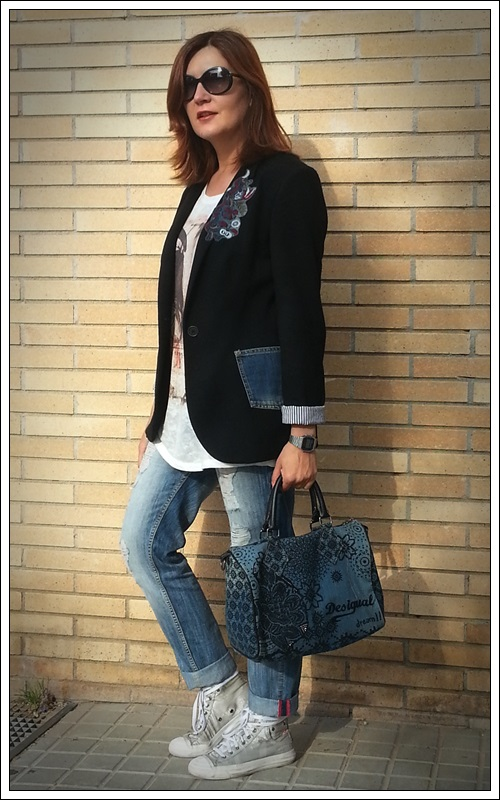Blazer customizado denim_ZARA