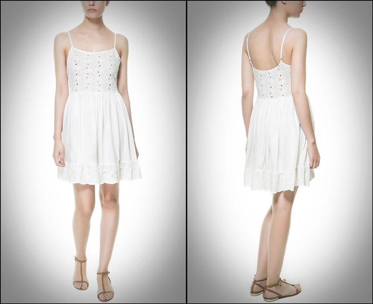 ZARA - vestido blanco volantes 25,95