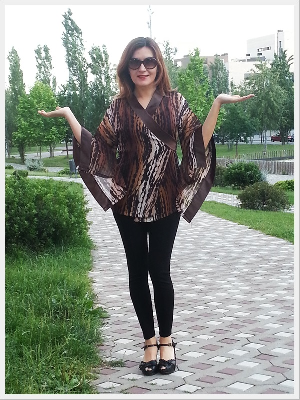 Asian Inspiration, geisha style, Japo look, Kimono street style 4