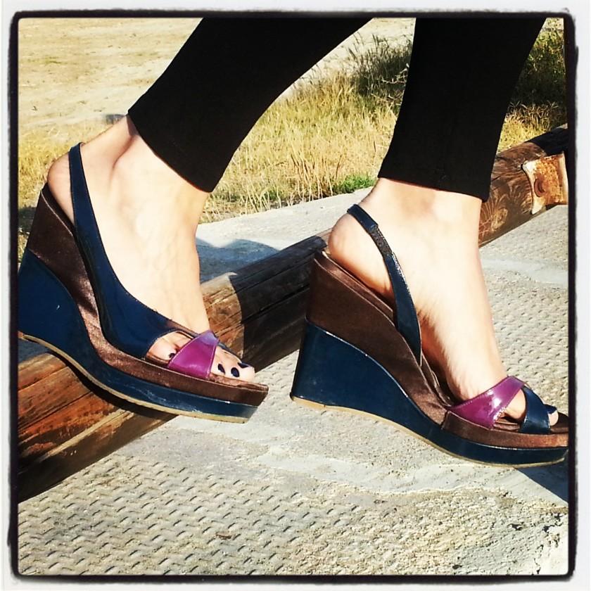 Leggins Zara; zapatos Marisa Rey; camisola Cha de Cores; top tank Zara; Sant Joan; Tarragona; Marisa rey cuñas