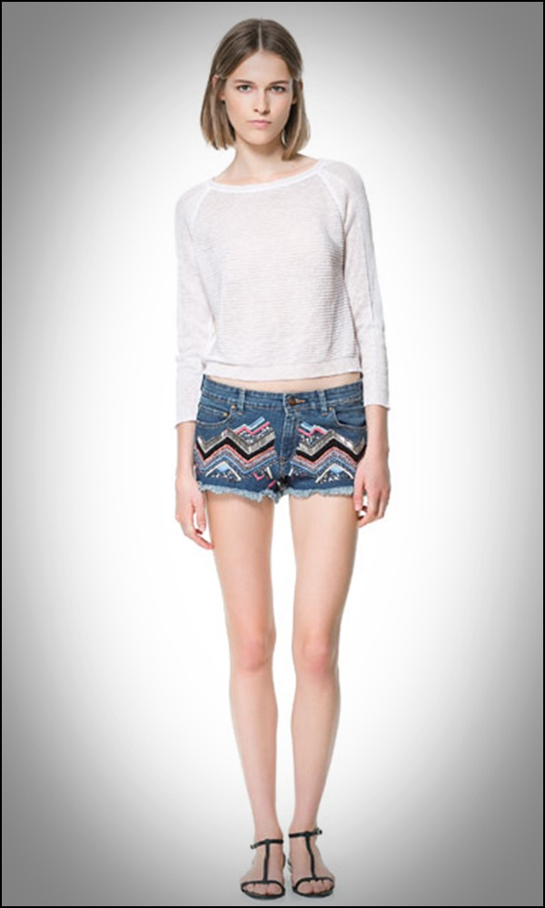short denim bordado 39,95