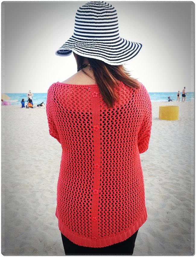Jersey Cha de cores, falda Silvian Heach, zapatos Purificación garcia, beach street style (2)