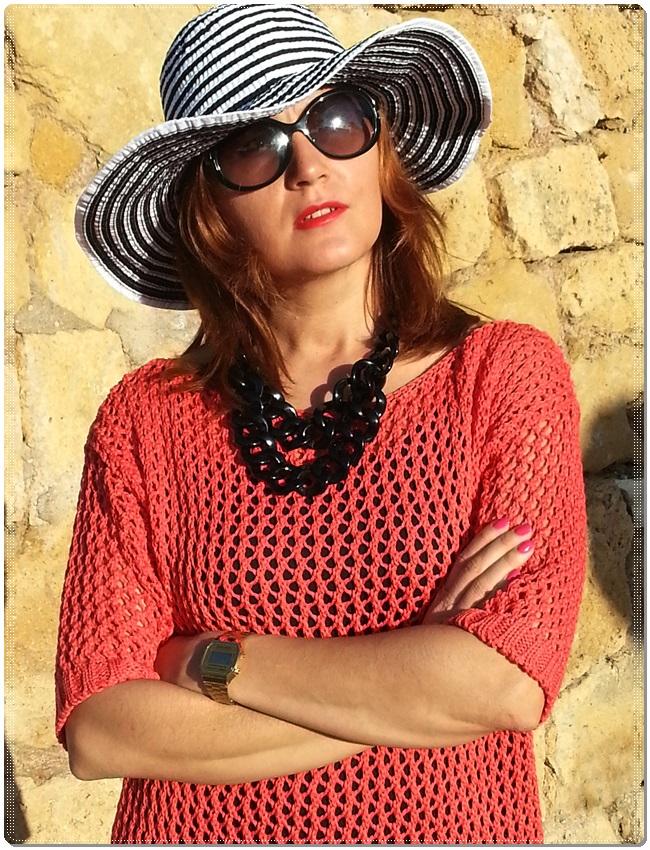 Jersey Cha de cores, falda Silvian Heach, zapatos Purificación garcia, beach street style (4)