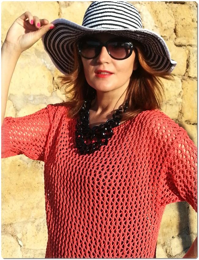 Jersey Cha de cores, falda Silvian Heach, zapatos Purificación garcia, beach street style (5)