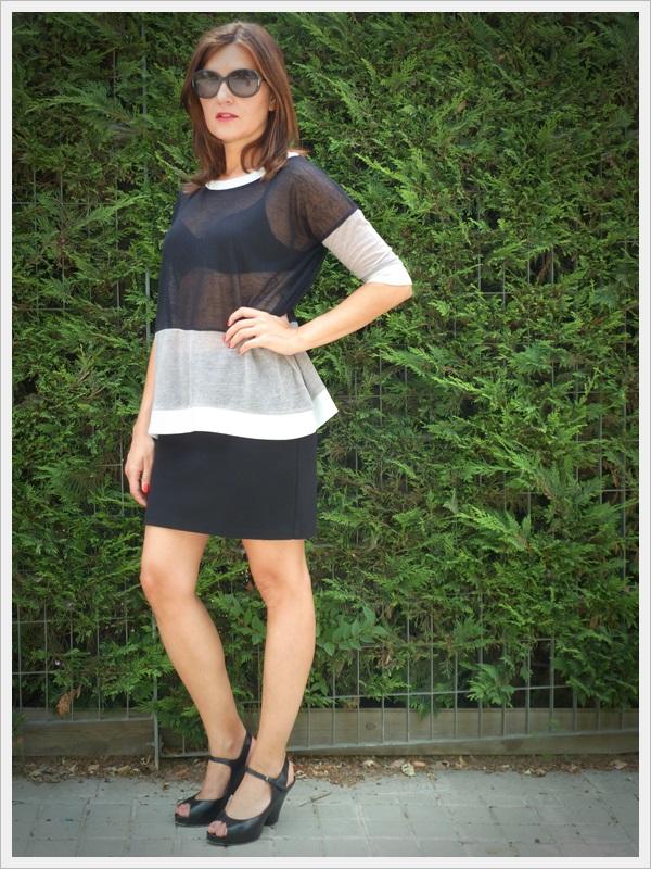 Minimal style, sudadera silver, zapatos Pura López (4)