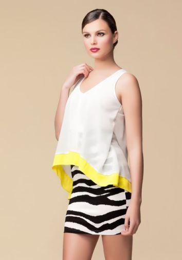Oxygene vestido print & fluor