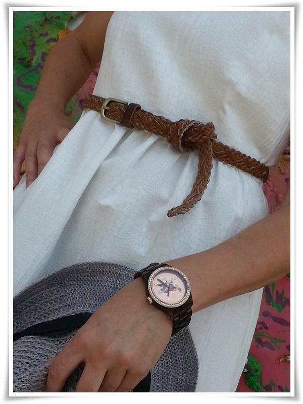 Vestido Zara Basic; Zapatos Gibbor; Cinturón STRADIVARIUS; Pendientes Sphera; Sombrero Outershell; Reloj Vabene (Italy); Gafas Sphera (2)