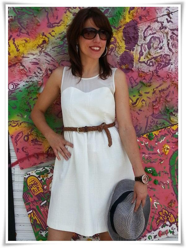 Vestido Zara Basic; Zapatos Gibbor; Cinturón STRADIVARIUS; Pendientes Sphera; Sombrero Outershell; Reloj Vabene (Italy); Gafas Sphera (3)