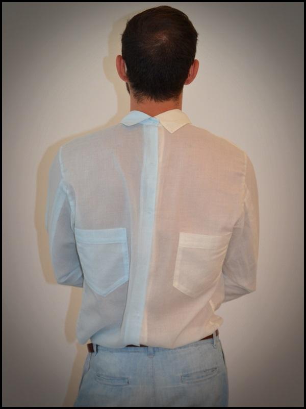 """Camisa twin de Brain & Beast  pantalón Uterqüe  Sandalias Son de la tienda """"Sueños Negros"""" del Boulevard rosa  Gafas H&M  Pulsera Domingo Ayala  Capazo (4)"""