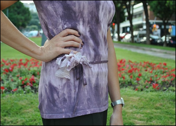 Falda Naf Naf, Camiseta hippie-chic en Siena, bolso Bimba & Lola, Zapatos Pons Quintana (5)