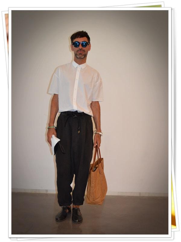 Pantalones Sigman Cucala  Camisa Cos  Zapatos Caboclo  Gafas Gsevenstars  Pulsera Domingo Ayala  Bolso Uashmama