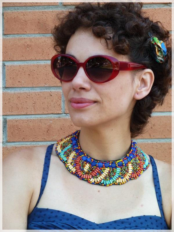 Pin-up baby; Corpiño Blanco, Zapatos Hispanitas, collar y pulseras etnicas; gafas Ben Affflelou modelo 50's (3)