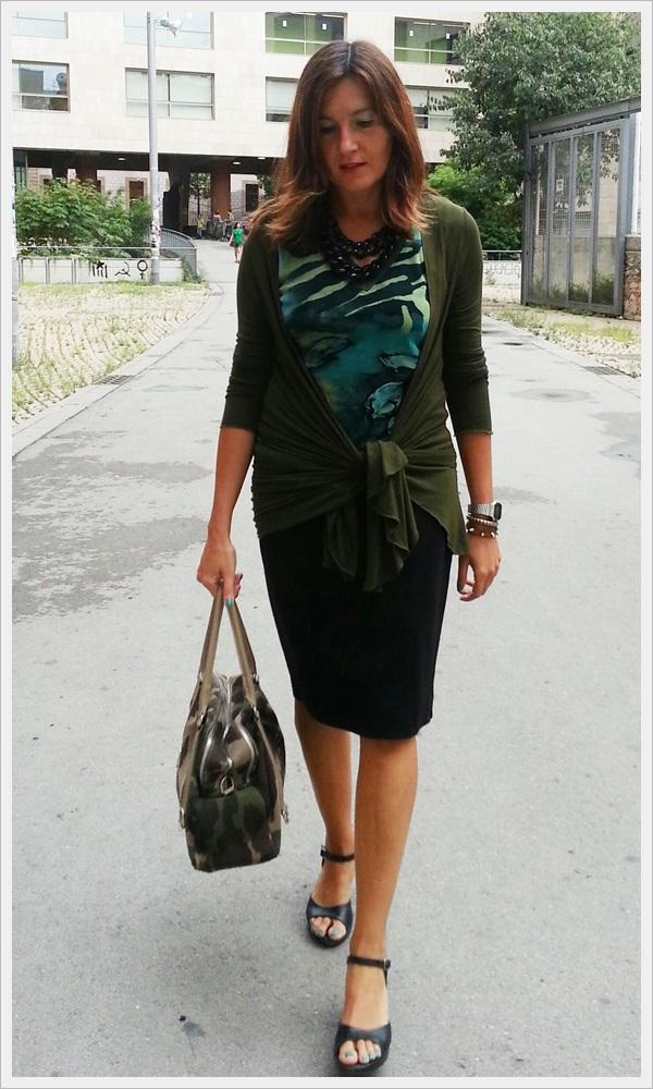 Chaqueta verde Zara