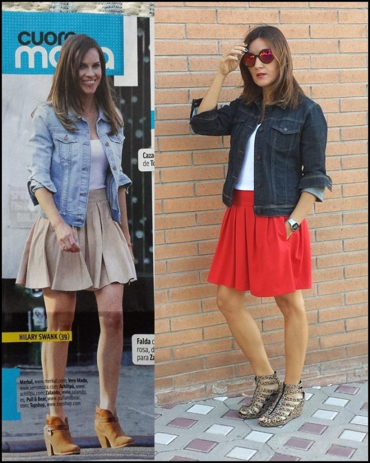 Cuidatuimagen, copia el look, falda Primark, camiseta Sfera, Cazadora Formula Joven, Zapatos Lost & Found market (2)