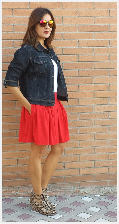 Cuidatuimagen, copia el look, falda Primark, camiseta Sfera, Cazadora Formula Joven, Zapatos Lost & Found market