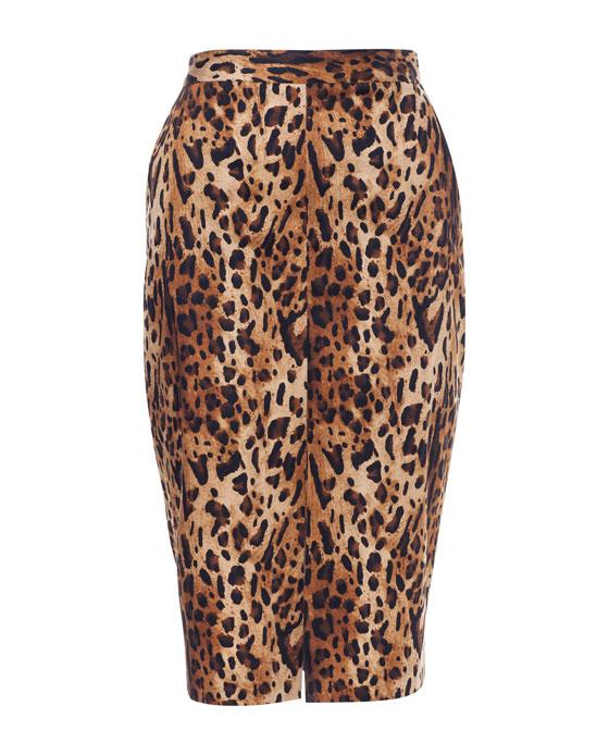 print animal pencil skirt zara 29,95 (2)