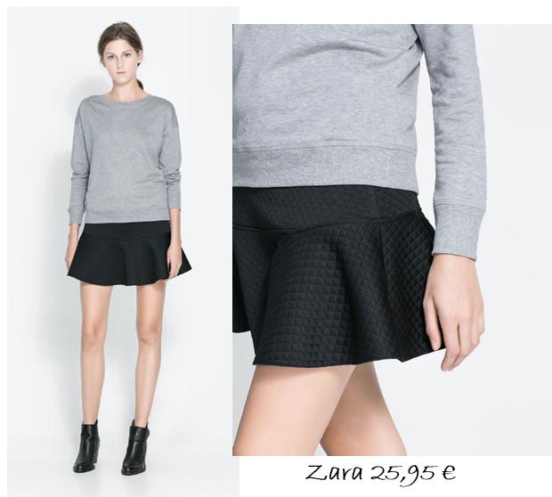 falda pephem, negra, Zara