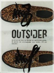 Outsider print animal creeper sneakers shoes