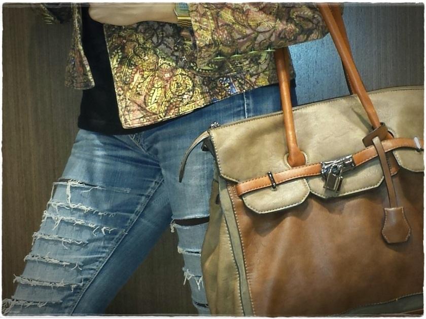 Cuidatuimagen, DIY, customize, jeans, El Corte Inglés, Le Temps du Cerises, chaqueta Vintage, botas Pons Quintana (3)