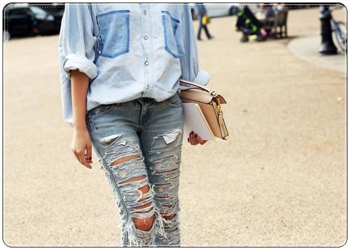 Cuidatuimagen, DIY, customize, jeans, El Corte Inglés, Le Temps du Cerises, chaqueta Vintage, botas Pons Quintana (4)