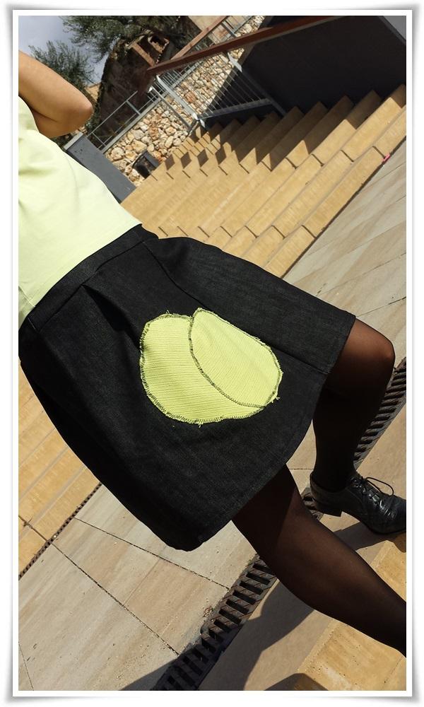Cuidatuimagn, street style, falda DIY, bolso local shop, chaqueta Sfera, Camiseta Massimo Dutti; medias Calzedonia, Oxford Sita Murt (3)