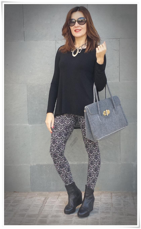 Cuidatuimagen, leggins barrocos, camiseta transparente, bolso Birkin-like; Tezenis; looks, trendy looks, leggins looks6
