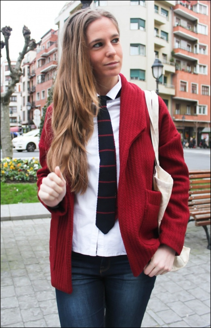 Cuidatuimagen, how to wear a tie, corbatas, trendy looks, tomboy style, winter looks, bow tie 7
