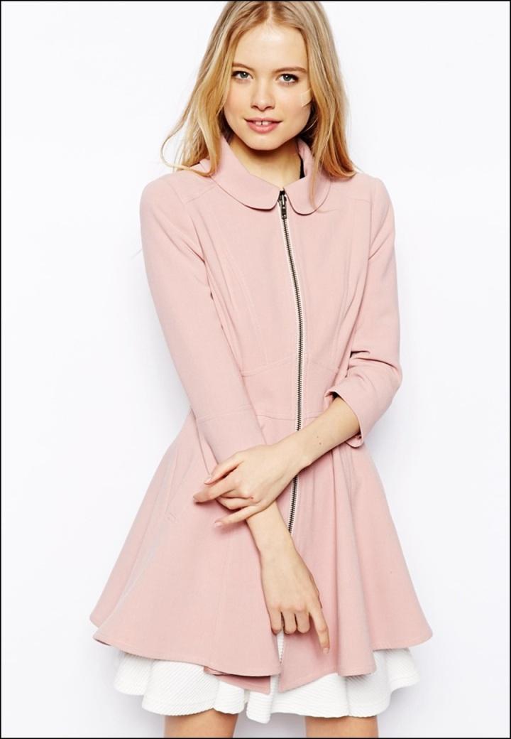 Cuidatuimagen, abrigos vitaminados, abrigos de colores, primavera, abrigo rosa pastel, ASOS