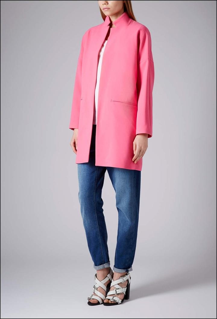 Cuidatuimagen, abrigos vitaminados, abrigos de colores, primavera, abrigo Topshop rosa