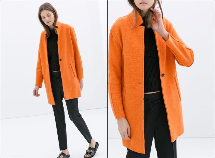 Cuidatuimagen, abrigos vitaminados, abrigos de colores, primavera, abrigo Zara naranja mural