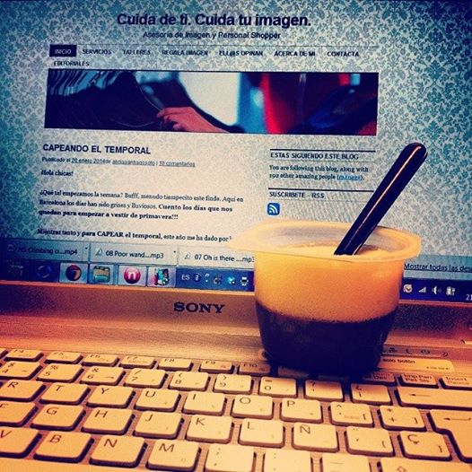 Cuidatuimagen, always working in the blog