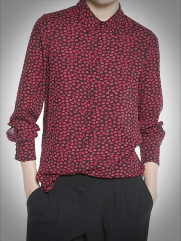 Cuidatuimagen, print lip, estampado besos, camisa besos mini by Mango 2