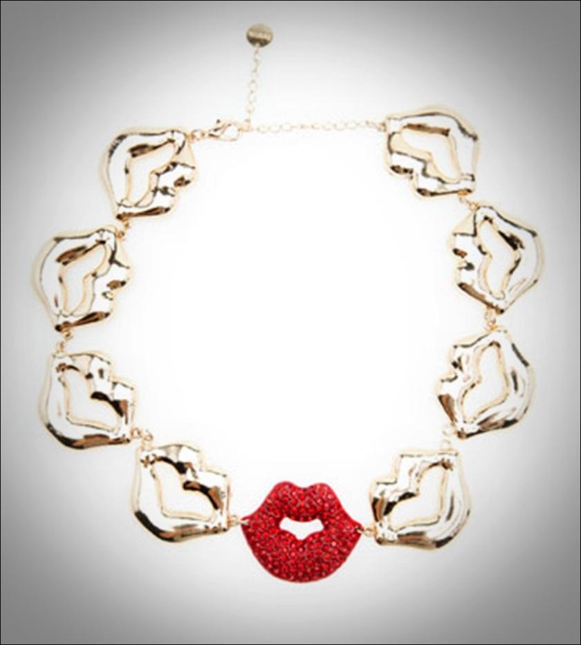 Cuidatuimagen, print lip, estampado besos, Collar by berska